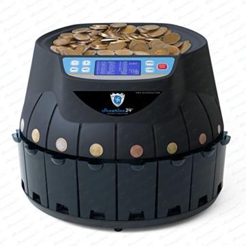 Münzzähler Euro SR1850 mit Drucker Securina24® (schwarz mit Drucker) - 2