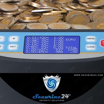 Münzzähler Euro SR1850 mit Drucker Securina24® (schwarz mit Drucker) - 4