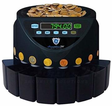 Münzzähler & -sortierer Geldzählmaschine Euro Münzen SR1200 Geldzähler Münzzählautomat von Securina24 (Schwarz - Blacklabel - BBB) - 2