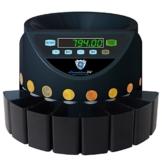 Münzzähler & -sortierer Geldzählmaschine Euro Münzen SR1200 Geldzähler Münzzählautomat von Securina24 (Schwarz - Blacklabel - BBB) - 1