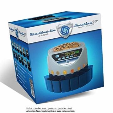 Münzzähler & -sortierer Geldzählmaschine Euro Münzen SR1200 Geldzähler Münzzählautomat von Securina24 (Schwarz - Blacklabel - BBB) - 4
