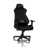 NITRO CONCEPTS S300 Gamingstuhl - Bürostuhl - Schreibtischstuhl - Stoffbezug - Stealth Black (Schwarz) - 1