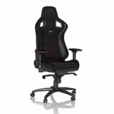 noblechairs Epic Gaming Stuhl - Bürostuhl - Schreibtischstuhl - PU-Kunstleder - Inklusive Kissen - Schwarz/Rot - 1