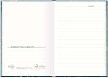 Notizbuch A5 liniert [Goldblüte] von Trendstuff by Häfft | 126 Seiten | ideal als Tagebuch, Bullet Journal, Ideenbuch, Schreibheft | nachhaltig & klimaneutral - 4