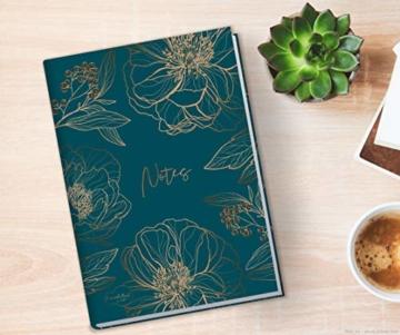 Notizbuch A5 liniert [Goldblüte] von Trendstuff by Häfft | 126 Seiten | ideal als Tagebuch, Bullet Journal, Ideenbuch, Schreibheft | nachhaltig & klimaneutral - 5