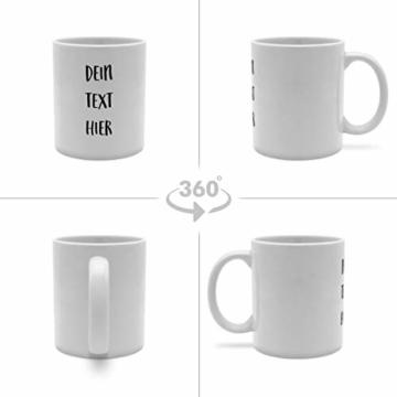 PhotoFancy Tasse mit Spruch selbst gestalten – Personalisierte Tasse mit Text beschriften (Weiß) - 3