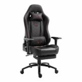 Play Haha Ergonomischer Gaming-Stuhl Racing-Stil Bürostuhl mit großer hoher Rückenlehne und gepolsterter Armlehne 666 rot - 1