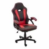 play haha Gaming-Stuhl im Renn-Stil, Büro-Drehstuhl, ergonomischer Konferenzstuhl mit Lendenwirbelstütze, PU-Leder mit verstellbarem Arbeitsstuhl, Gasdruckfeder, SGS-geprüft PH094 rot - 1