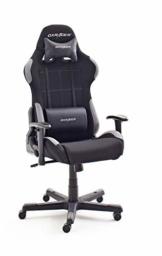Robas Lund OH/FD01/NG DX Racer 5 Gaming Stuhl/ Büro-/ Schreibtischstuhl, mit Wippfunktion Gamer Stuhl Höhenverstellbarer Drehstuhl PC Stuhl Ergonomischer Chefsessel, schwarz-grau - 1