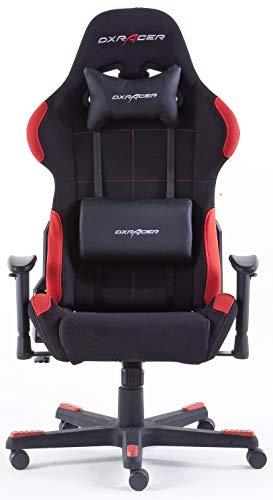 Robas Lund OH/FD01/NR DX Racer 1 Gaming-/ Büro-/ Schreibtischstuhl, mit Wippfunktion Gaming Stuhl Höhenverstellbarer Drehstuhl PC Stuhl Ergonomischer Chefsessel, schwarz-rot - 6