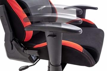 Robas Lund OH/FD01/NR DX Racer 1 Gaming-/ Büro-/ Schreibtischstuhl, mit Wippfunktion Gaming Stuhl Höhenverstellbarer Drehstuhl PC Stuhl Ergonomischer Chefsessel, schwarz-rot - 7