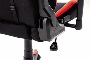 Robas Lund OH/FD01/NR DX Racer 1 Gaming-/ Büro-/ Schreibtischstuhl, mit Wippfunktion Gaming Stuhl Höhenverstellbarer Drehstuhl PC Stuhl Ergonomischer Chefsessel, schwarz-rot - 10