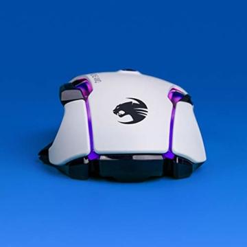 Roccat Kone AIMO Gaming Maus (hohe Präzision, Optischer Owl-Eye Sensor (100 bis 16.000 Dpi), RGB AIMO LED Beleuchtung, 23 programmierbare Tasten, Designt in Deutschland, USB), weiß(remastered) - 6