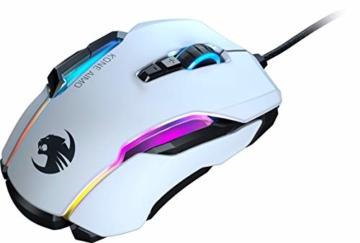 Roccat Kone AIMO Gaming Maus (hohe Präzision, Optischer Owl-Eye Sensor (100 bis 16.000 Dpi), RGB AIMO LED Beleuchtung, 23 programmierbare Tasten, Designt in Deutschland, USB), weiß(remastered) - 8