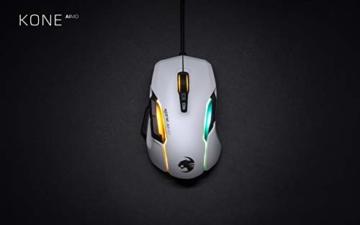 Roccat Kone AIMO Gaming Maus (hohe Präzision, Optischer Owl-Eye Sensor (100 bis 16.000 Dpi), RGB AIMO LED Beleuchtung, 23 programmierbare Tasten, Designt in Deutschland, USB), weiß(remastered) - 9