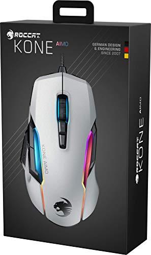 Roccat Kone AIMO Gaming Maus (hohe Präzision, Optischer Owl-Eye Sensor (100 bis 16.000 Dpi), RGB AIMO LED Beleuchtung, 23 programmierbare Tasten, Designt in Deutschland, USB), weiß(remastered) - 10
