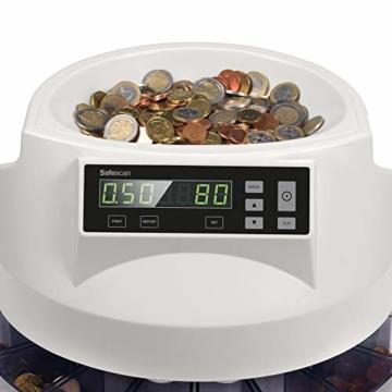 Safescan 1250 geldzählmaschine - automatischer münzzähler und sortierer für Euro Münzen - 3