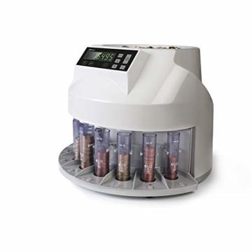 Safescan 1250 geldzählmaschine - automatischer münzzähler und sortierer für Euro Münzen - 4