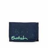 Satch Geldbeutel - Münzfach, Geldscheinfach, Sichtfenster - Space Race - Blau - 1