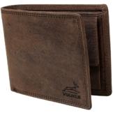 Schlanke Echtleder-Geldbörse besonders bequem einfach und extra stabil #Easycomfort (Braun) - 1