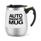 Selbstrührender Kaffeebecher,Richer-R Magnetischer mischender Becher selbstrührende Tasse,Elektrisch Edelstahl Kaffeebecher Thermobecher Tasse Self Stiring Mug für Kaffee/Tee/Schokoladen(Weiß) - 1