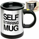 Self Stirring Coffee Mug, 8 oz Stainless Steel Automatic Self Mixing & Spinning Cup by Chuzy Chef - 1