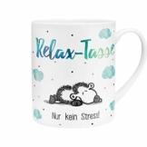 "Sheepworld 45755 XL-Tasse mit sheepworld-Motiv ""Relax-Tasse - Nur kein Stress"", Mehrfarbig ,60 cl - 1"