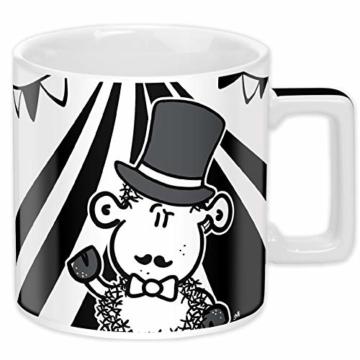 Sheepworld Wortheld-Tasse 45922, Kaffee-Tasse mit Spruch Zirkus, Porzellan, 45 cl, schwarz-weiß - 2