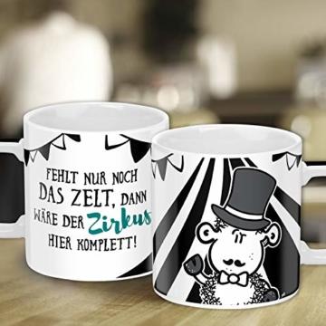 Sheepworld Wortheld-Tasse 45922, Kaffee-Tasse mit Spruch Zirkus, Porzellan, 45 cl, schwarz-weiß - 3