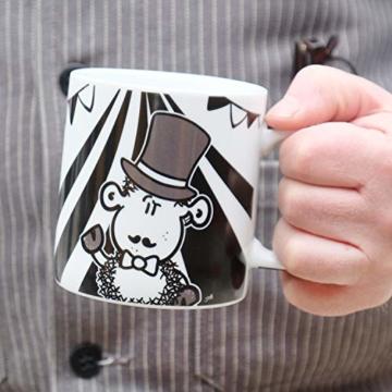 Sheepworld Wortheld-Tasse 45922, Kaffee-Tasse mit Spruch Zirkus, Porzellan, 45 cl, schwarz-weiß - 5