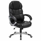 SONGMICS Bürostuhl Chefsessel Drehstuhl Computerstuhl SGS EN12520 Sitzhöhenverstellung office Stuhl Polsterung, OBG24B - 1