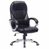 SONGMICS Bürostuhl Chefsessel Drehstuhl Computerstuhl Sitzhöhenverstellung office Stuhl Polsterung, OBG22B - 1