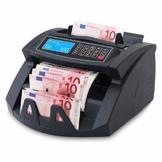 Stückzahlzähler Geldzählmaschine Geldzähler Euro SR-3750 LCD UV/MG/IR von Securina24® (Schwarz - LCD) - 1