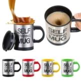 Sunshine D Die selbstrührende Tasse Lazy Mug by Creations Elektrische Becher Twister Mug Schwarz - 1