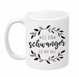 """TassenTicker - """"Ich bin schwanger ich darf das - beidseitig Bedruckt - Tasse - Geschenkidee - Geschenk - werdende Mama- Schwangere Frau - Schwangerschaft - Kaffeetasse (Weiß) - 1"""