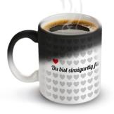 Tassenwerk – Tasse mit Thermoeffekt – Kaffeetasse mit Farbwechsel – Motiv 1000 Herzen – Geschenkidee zum Valentinstag und Geburtstag – Geschenk für Frauen und Männer - 1