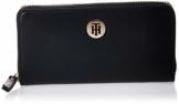 Tommy Hilfiger Damen Classic Saffiano Lrg Za Wallet Geldbörse, Schwarz (Black), 2.3x10x19 centimeters (W x H x L) - 1