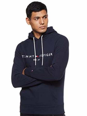 Tommy Hilfiger Herren Tommy Logo Hoody Sweatshirt, Blau (Sky Captain 403), Large (Herstellergröße:L) - 1