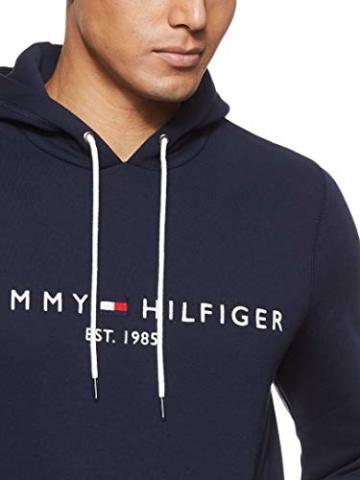 Tommy Hilfiger Herren Tommy Logo Hoody Sweatshirt, Blau (Sky Captain 403), Large (Herstellergröße:L) - 6