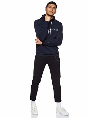 Tommy Hilfiger Herren Tommy Logo Hoody Sweatshirt, Blau (Sky Captain 403), Large (Herstellergröße:L) - 8