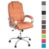 TPFLiving XXL Bürostuhl Chefsessel Denver Orange Belastbar bis 210kg Kunstleder - 1