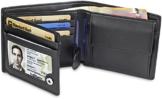 TRAVANDO ® Geldbörse Herren Tokyo mit RFID Schutz Geldbeutel schwarz Portemonnaie Portmonaise Geldtasche Brieftasche Hochformat Herrengeldbeutel Herrenbörse Herrengeldbörse Portmonee Geschenk Wallet - 1