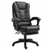 Trisens Schreibtischstuhl Design Bürostuhl Racing Chair Chefsessel Gamingstuhl Fußstütze, Farbe:Schwarz - 1