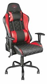 Trust GXT 707R Resto Gaming-Stuhl (Ergonomisch mit Höhenverstellbare Armlehnen) Rot - 1