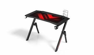 Ultradesk Action V2 - Gaming Tisch, Gamer Desk, Computertisch mit innovativem Design, Hohe Qualität, L: 110 cm, T: 59 cm, H: 75 cm - 2