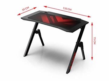 Ultradesk Action V2 - Gaming Tisch, Gamer Desk, Computertisch mit innovativem Design, Hohe Qualität, L: 110 cm, T: 59 cm, H: 75 cm - 3