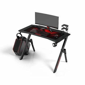 Ultradesk Action V2 - Gaming Tisch, Gamer Desk, Computertisch mit innovativem Design, Hohe Qualität, L: 110 cm, T: 59 cm, H: 75 cm - 1