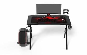 Ultradesk Action V2 - Gaming Tisch, Gamer Desk, Computertisch mit innovativem Design, Hohe Qualität, L: 110 cm, T: 59 cm, H: 75 cm - 8