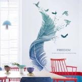 Wandtattoo für Wohnzimmer, Wandsticker als Wanddekoration für Schlafzimmer Kinderzimmer 124cm×72cm Wand Aufkleber   Deko Wandtattoo für Wand Fenster Möbel/Schrank Küche Bad Fenster Flur - 1
