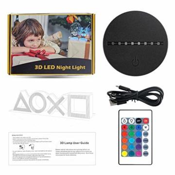 Xpassion Playstation Lampe mit Farbwechsel Funktion 16 Farben LED-Tisch-Schreibtisch-Lampen USB-Lade, die Schlafzimmer-Dekoration für Kinder Weihnachten Halloween-Geburtstagsgeschenk beleuchten - 4